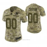 Camiseta NFL Limited Mujer Las Vegas Raiders Personalizada 2018 Salute To Service Verde
