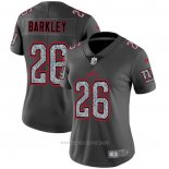 Camiseta NFL Limited Mujer New York Giants Barkley Static Fashion Gris