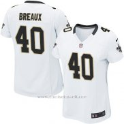 Camiseta New Orleans Saints Breaux Blanco Nike Game NFL Mujer