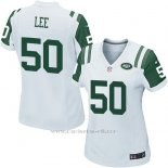 Camiseta New York Jets Lee Blanco Nike Game NFL Mujer