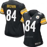 Camiseta Pittsburgh Steelers Brown Negro Nike Game NFL Mujer