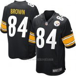 Camiseta Pittsburgh Steelers Brown Negro Nike Game NFL Nino