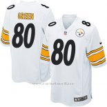 Camiseta Pittsburgh Steelers Green Blanco Nike Game NFL Nino