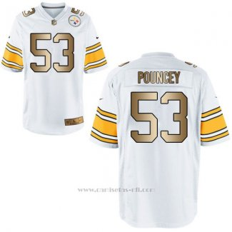Camiseta Pittsburgh Steelers Pouncey Blanco Nike Gold Game NFL Hombre
