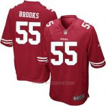 Camiseta San Francisco 49ers Brooks Rojo Nike Game NFL Nino
