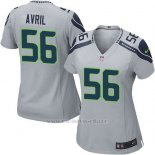 Camiseta Seattle Seahawks Avril Gris Nike Game NFL Mujer