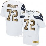 Camiseta Seattle Seahawks Bennett Blanco Nike Gold Elite NFL Hombre