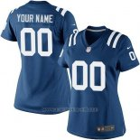 Camisetas NFL Limited Mujer Indianapolis Colts Personalizada Azul