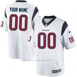 Camisetas NFL Replica Hombre Houston Texans Personalizada Blanco