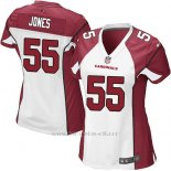 Camiseta Arizona Cardinals Jones Blanco Rojo Nike Game NFL Mujer