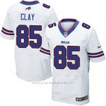 Camiseta Buffalo Bills Clay Blanco Nike Elite NFL Hombre
