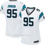 Camiseta Carolina Panthers Johnson Blanco Nike Game NFL Mujer
