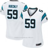 Camiseta Carolina Panthers Kuechly Blanco Nike Game NFL Mujer