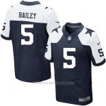 Camiseta Dallas Cowboys Bailey Profundo Azul y Blanco Nike Elite NFL Hombre