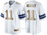 Camiseta Dallas Cowboys Beasley Blanco Nike Gold Game NFL Hombre