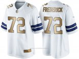 Camiseta Dallas Cowboys Frederick Blanco Nike Gold Game NFL Hombre