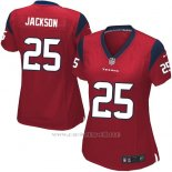 Camiseta Houston Texans Jackson Rojo Nike Game NFL Mujer