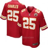 Camiseta Kansas City Chiefs Charles Rojo Nike Game NFL Nino
