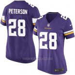 Camiseta Minnesota Vikings Peterson Violeta Nike Game NFL Mujer
