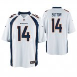 Camiseta NFL Game Hombre Denver Broncos Courtland Sutton Blanco