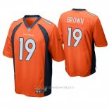 Camiseta NFL Game Hombre Denver Broncos Fred Brown Naranja