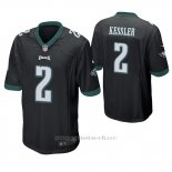 Camiseta NFL Game Hombre Philadelphia Eagles Cody Kessler Negro