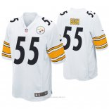 Camiseta NFL Game Hombre Pittsburgh Steelers Devin Bush Blanco