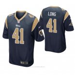 Camiseta NFL Game Hombre St Louis Rams David Long Azul2