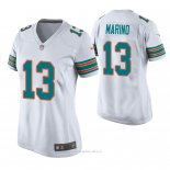 Camiseta NFL Game Mujer Miami Dolphins Dan Marino Throwback Blanco