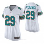 Camiseta NFL Game Mujer Miami Dolphins Minkah Fitzpatrick Throwback Blanco