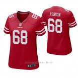 Camiseta NFL Game Mujer San Francisco 49ers Mike Person Rojo