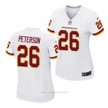 Camiseta NFL Game Mujer Washington Redskins Adrian Peterson Blanco