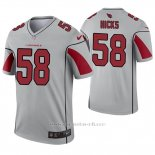 Camiseta NFL Legend Hombre Arizona Cardinals 58 Jordan Hicks Inverted Gris