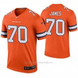 Camiseta NFL Legend Hombre Denver Broncos Ja'wuan James Naranja Color Rush