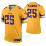 Camiseta NFL Legend Hombre Minnesota Vikings 25 Alexander Mattison Inverted Oro