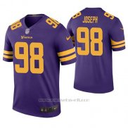 Camiseta NFL Legend Hombre Minnesota Vikings Linval Joseph Violeta Color Rush