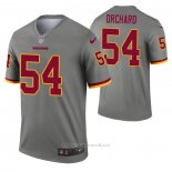 Camiseta NFL Legend Washington Redskins Nate Orchard Inverted Gris