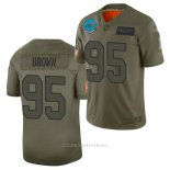 Camiseta NFL Limited Carolina Panthers Derrick Brown 2019 Salute To Service Verde