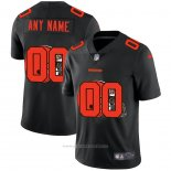 Camiseta NFL Limited Cleveland Browns Personalizada Logo Dual Overlap Negro