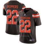 Camiseta NFL Limited Hombre 22 Peppers Cleveland Browns Negro