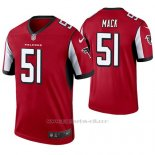 Camiseta NFL Limited Hombre Atlanta Falcons Alex Mack Rojo Legend