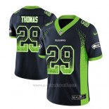 Camiseta NFL Limited Hombre Seattle Seahawks Earl Thomas Azul 2018 Drift Fashion Color Rush
