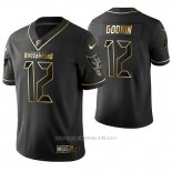 Camiseta NFL Limited Hombre Tampa Bay Buccaneers Chris Godwin Golden Edition Negro