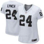Camiseta NFL Limited Mujer Oakland Raiders 24 Lynch Blanco