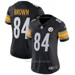 Camiseta NFL Limited Mujer Pittsburgh Steelers 84 Brown Negro