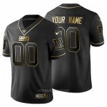 Camiseta NFL Limited New York Giants Personalizada Golden Edition Negro