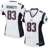 Camiseta New England Patriots Bennett Blanco Nike Game NFL Mujer
