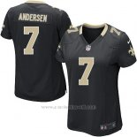 Camiseta New Orleans Saints Andersen Negro Nike Game NFL Mujer