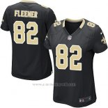 Camiseta New Orleans Saints Fleener Negro Nike Game NFL Mujer