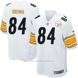 Camiseta Pittsburgh Steelers Brown Blanco Nike Game NFL Nino